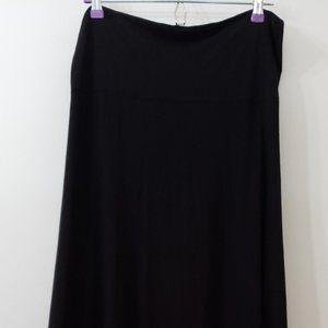 LuLaRoe Solid Black Maxi Skirt